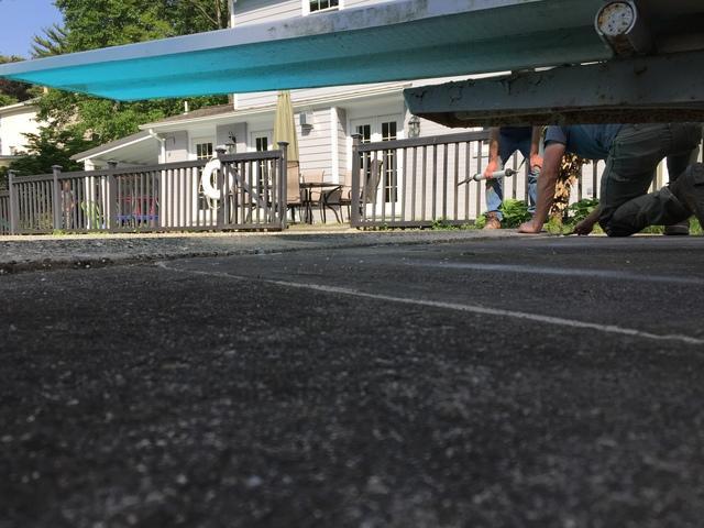 Uneven Pool deck in Glenside, Pa.