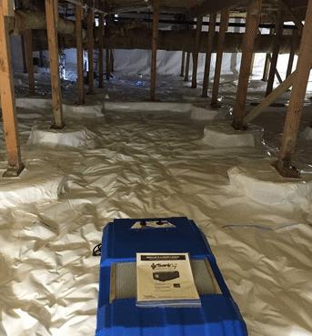 Crawl Space Waterproofing in Brier
