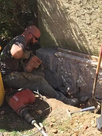Push Pier Installation Saves Separating Chimney in Gwynedd Valley, PA