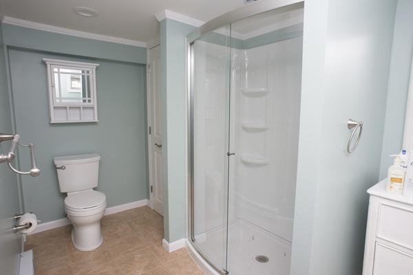 Remodeled basement bathroom in Norwalk, CT