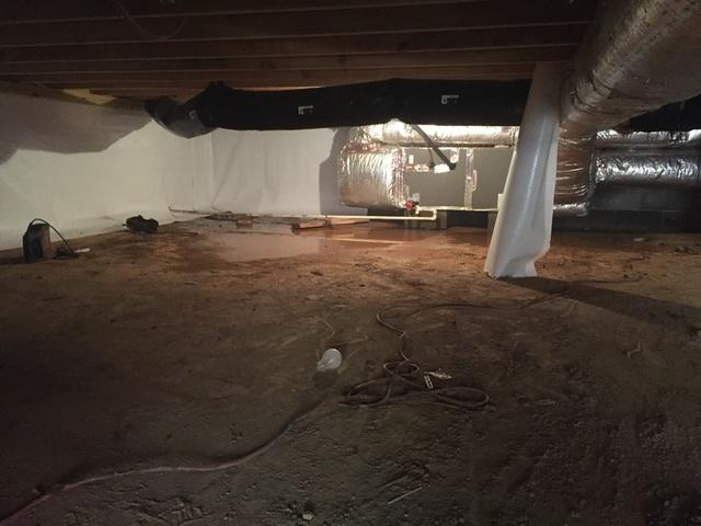 CrawlSpace Encapsulation with CleanSpace in South Hampton