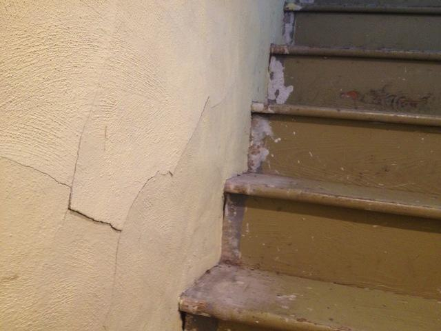 Cracks in Concrete Basement Walls in a Villanova home