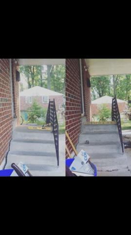 Sagging Concrete Steps in Villanova, PA