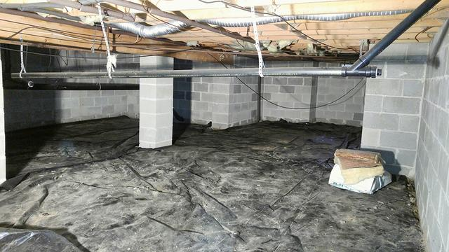Chronically wet crawl space needed a permanent solution - Crawl space repai...