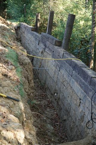 Retaining wall failure in Germantown, TN