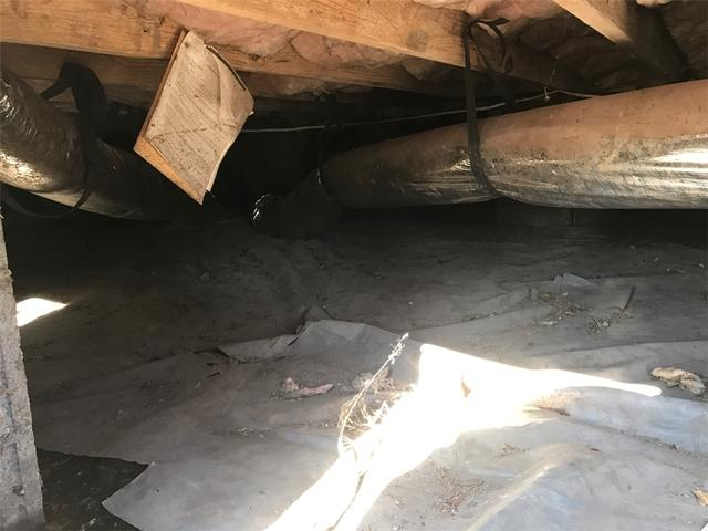 Nasty Crawl Space Replaced with CleanSpace Install in Hope Mills, NC