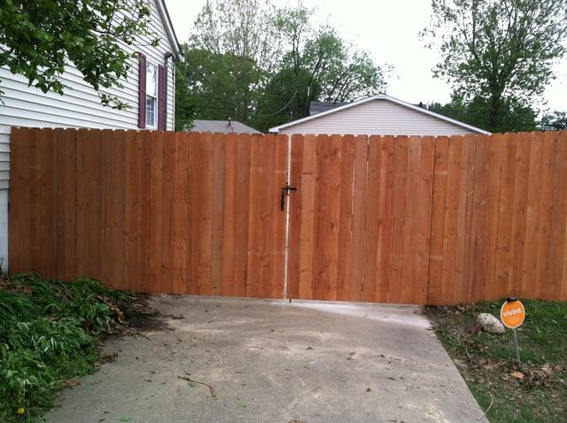72 Inch Wood Privacy Fencing Installation In Granite City Il