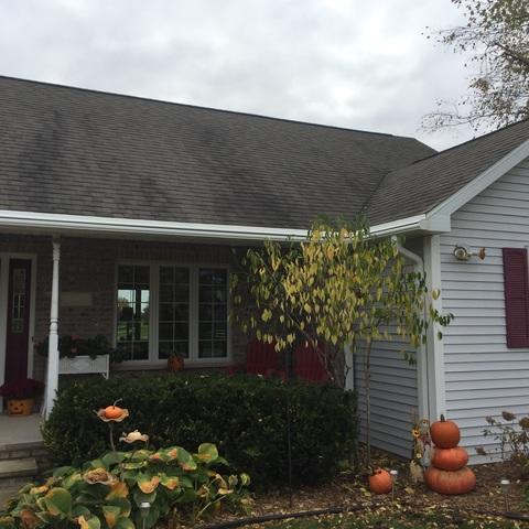 Eliminating Gutter Cleaning on Home in Winneconne, WI