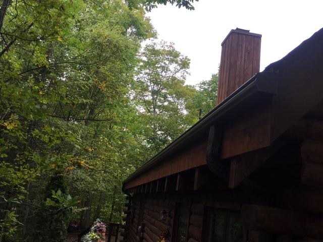 Homeowner in Ellison Bay is looking for maintenance free, brown gutters.