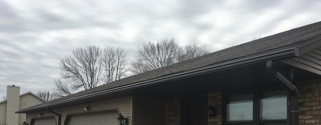 Undersized Gutters Replaced with LeafGuard Gutters in Green Bay