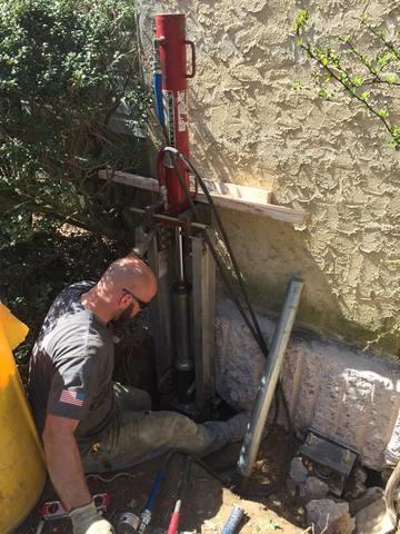 Foundation Repair with Push Piers in Berwyn, PA