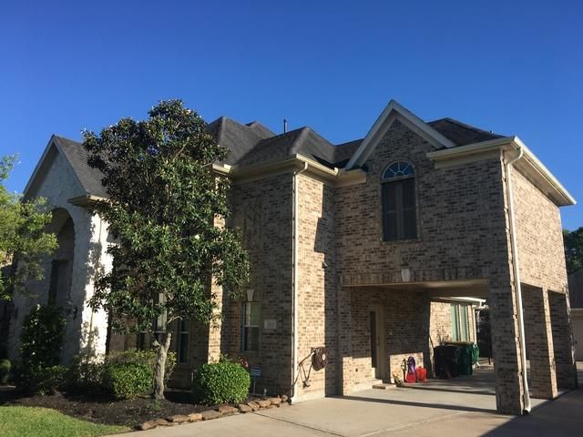 A formidable re-roof in the Silvercreek community of Manvel, Texas