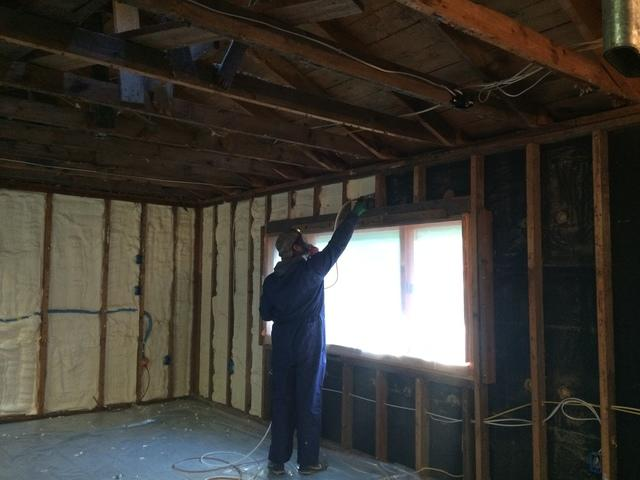 Insulating Cabin Walls with Spray Foam in Baileys Harbor, WI