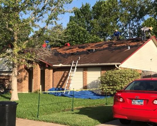 Major structural repair during installation of a new roof in Friendswood, T...