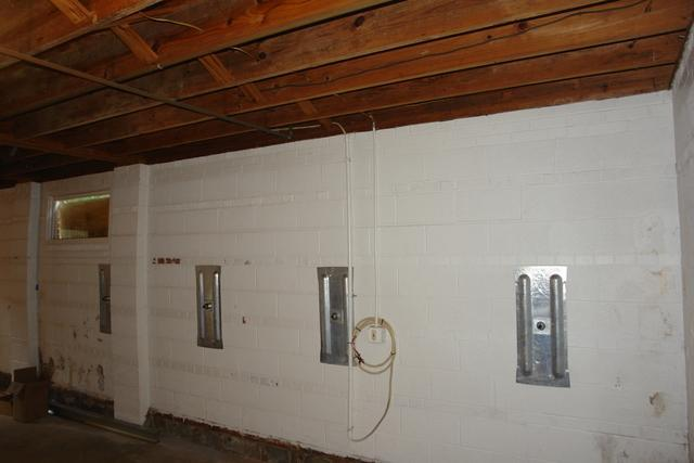 Foundation wall stabilized with Geo-Locks in Lehigh, PA