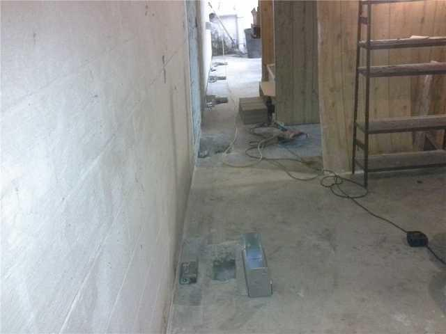 PowerBrace System and WaterGuard Drain Installed in Hendersonville, NC Base...