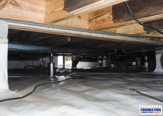 Restructuring a Crawl Space in Greenville, NC