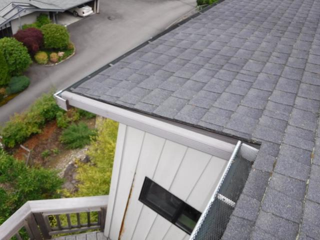 Home in Kenmore, WA has DIY gutter guards that Don't Work!