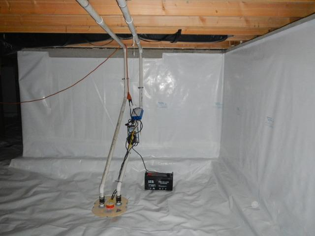 Fixing Water in Crawlspace, Bothell WA