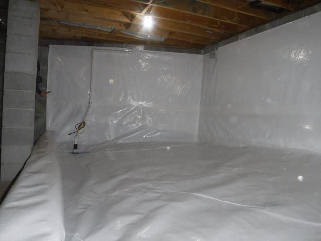 Sky Valley, GA crawlspace saved with CleanSpace, SmartSump, and Dehumidifie...