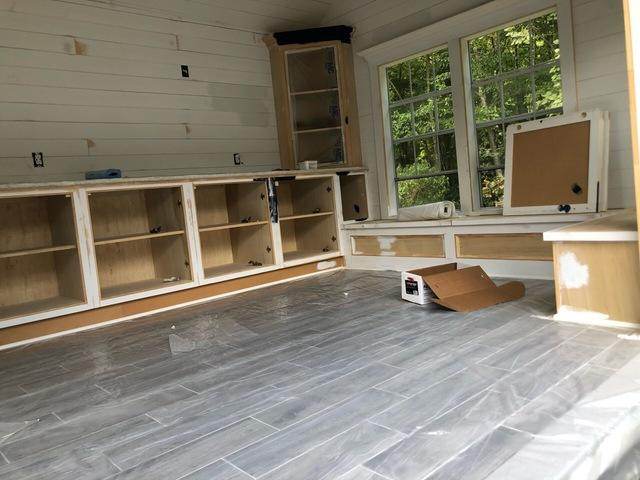 Interior Pool House Painting in Easton, CT