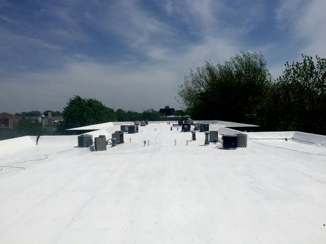 Commercial Roofing (TPO Flat Roof) Installed at Stoneybrook Apartments in G...