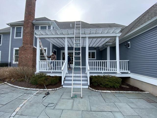 Pergola and Deck Staining in Avon, CT