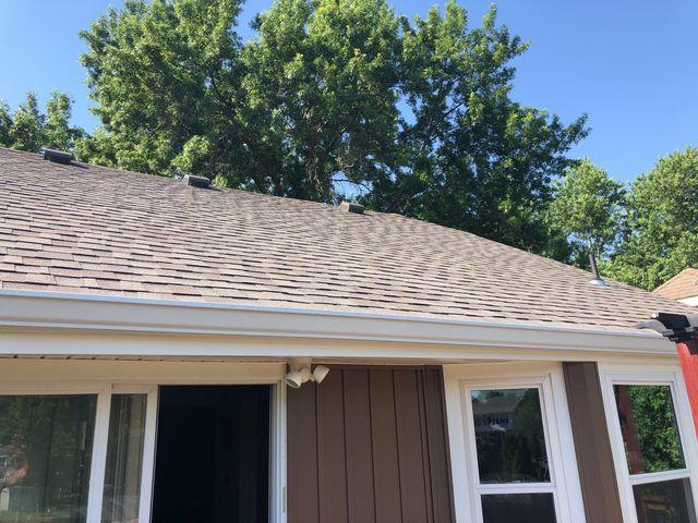 Half Roof Replaced to Match the Existing Front Half of Roof in Olathe, KS