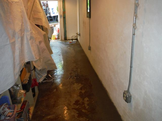 WaterGuard installed in Asheville, NC Basement