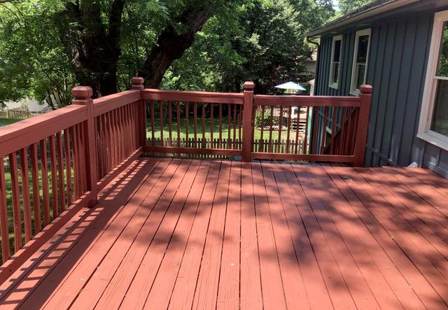 Deck in Lee's Summit, MO with New Piers, Posts and Stain