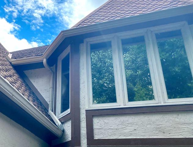 6 Inch Gutters, Diverters and Downspouts installed in Olathe, KS