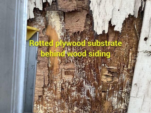 Rotted wood siding