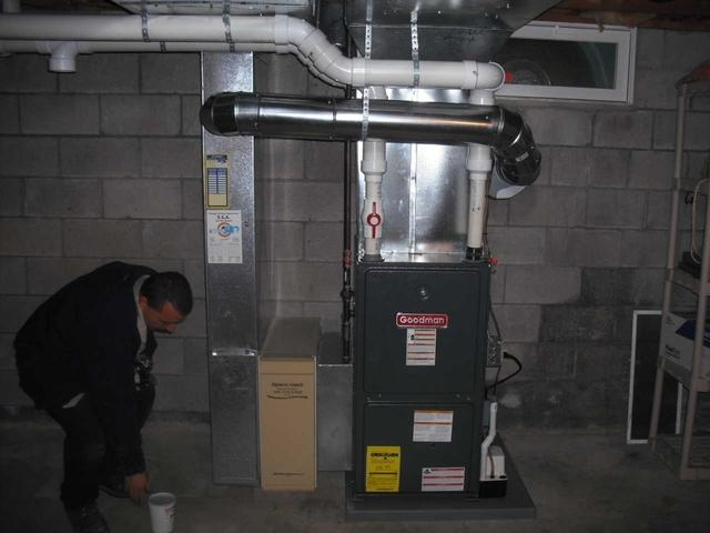 Goodman 95% Gas Furnace Installation in Newark, New York