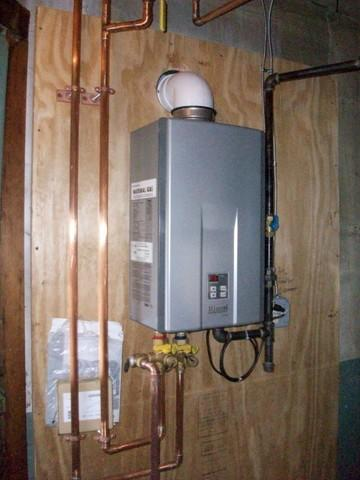 Rinnai Tankless Water Heater/Zoning Board Installed in Ithaca, NY