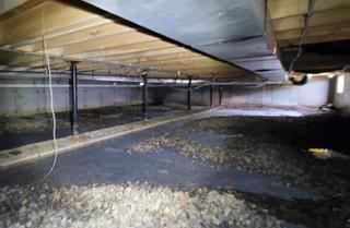 Wet Crawl Space Transformed in Admire, Kansas