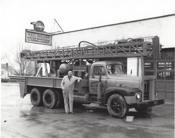 historic well drilling photo