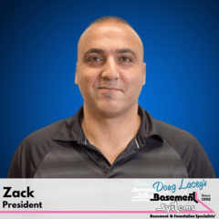Zack from Doug Lacey's Basement Systems
