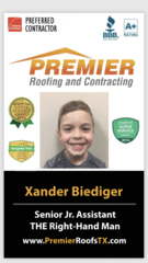Xander Biediger from Premier Roofing and Contracting