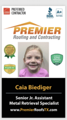 Caia Biediger from Premier Roofing and Contracting