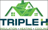 Triple H Insulation, Heating & Cooling Logo