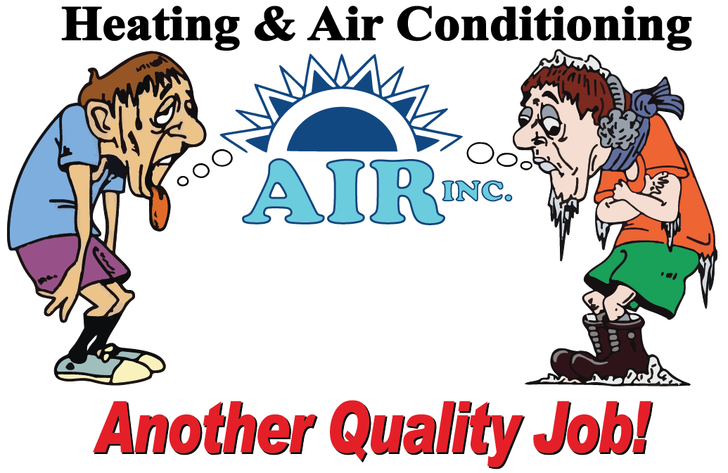Air Inc. Heating and Air Conditioning Logo