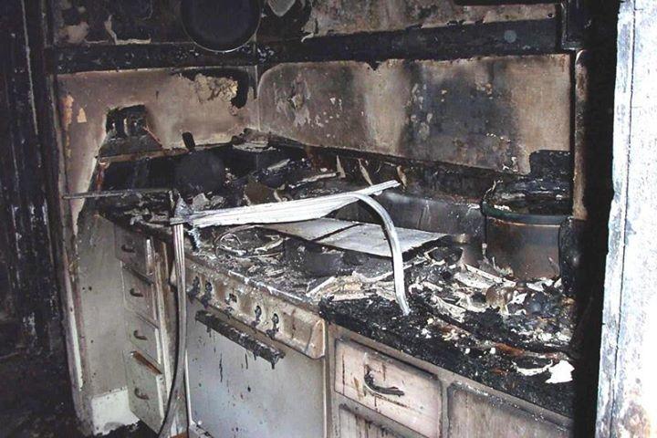 Inside the Damaged Kitchen