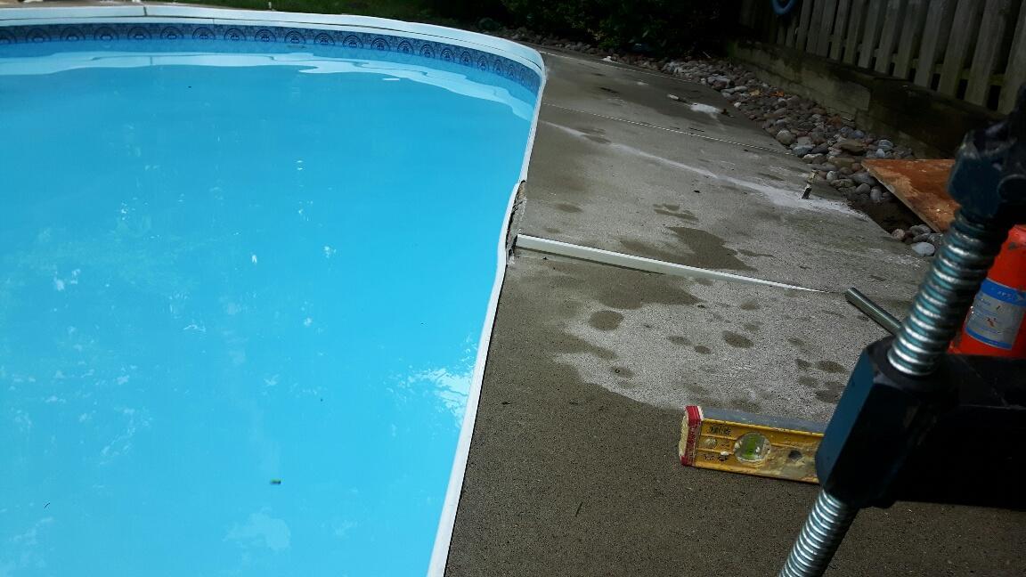 Before Pool Deck Repair
