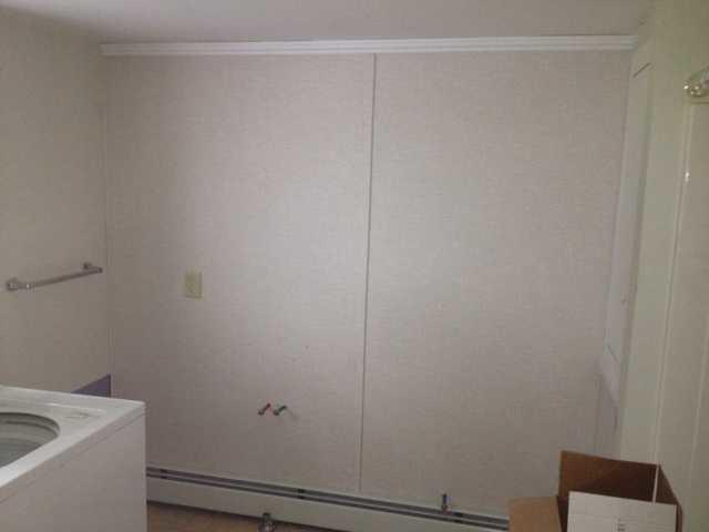 Laundry Room with New Everlast Wall
