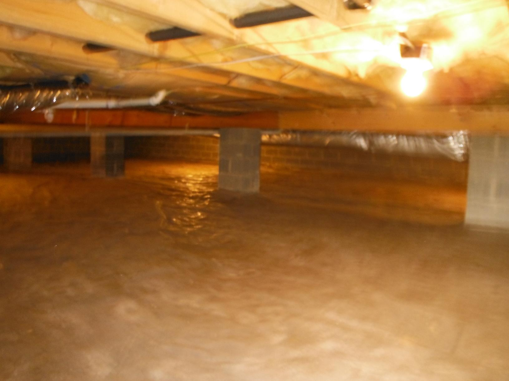 Damp Crawl Space