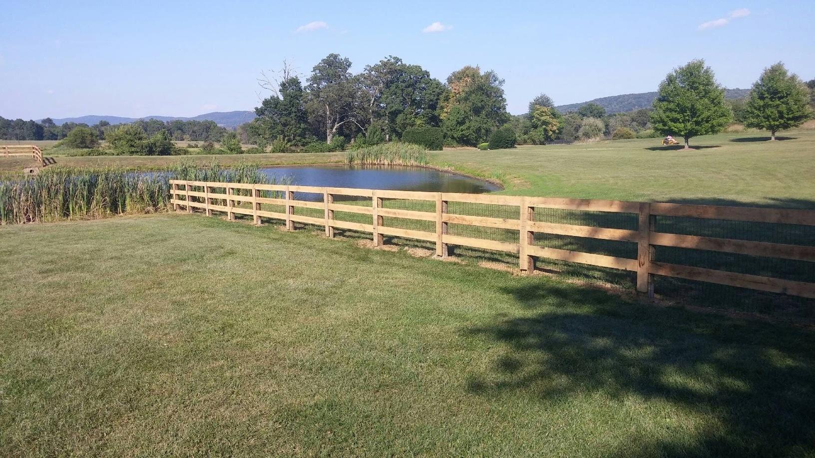 Paddock Fence installation, Bristow VA