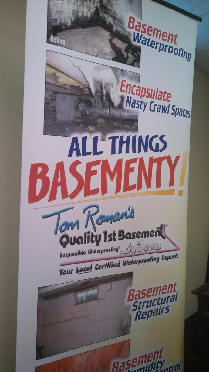All Things Basement! Pop-up Display