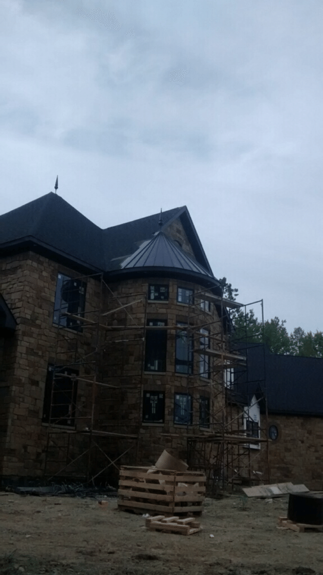 Standing Seam Metal Roofing Installation On Cone Section