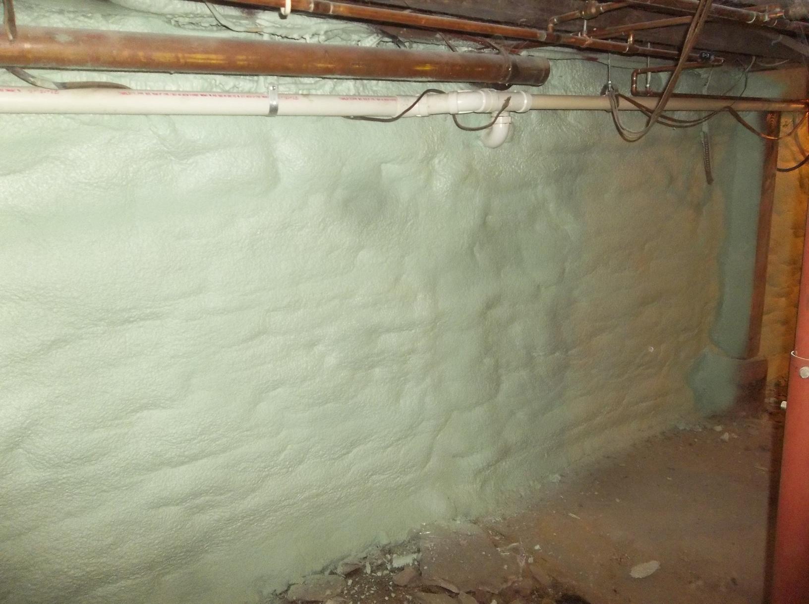 Spray Foam To Basement Walls