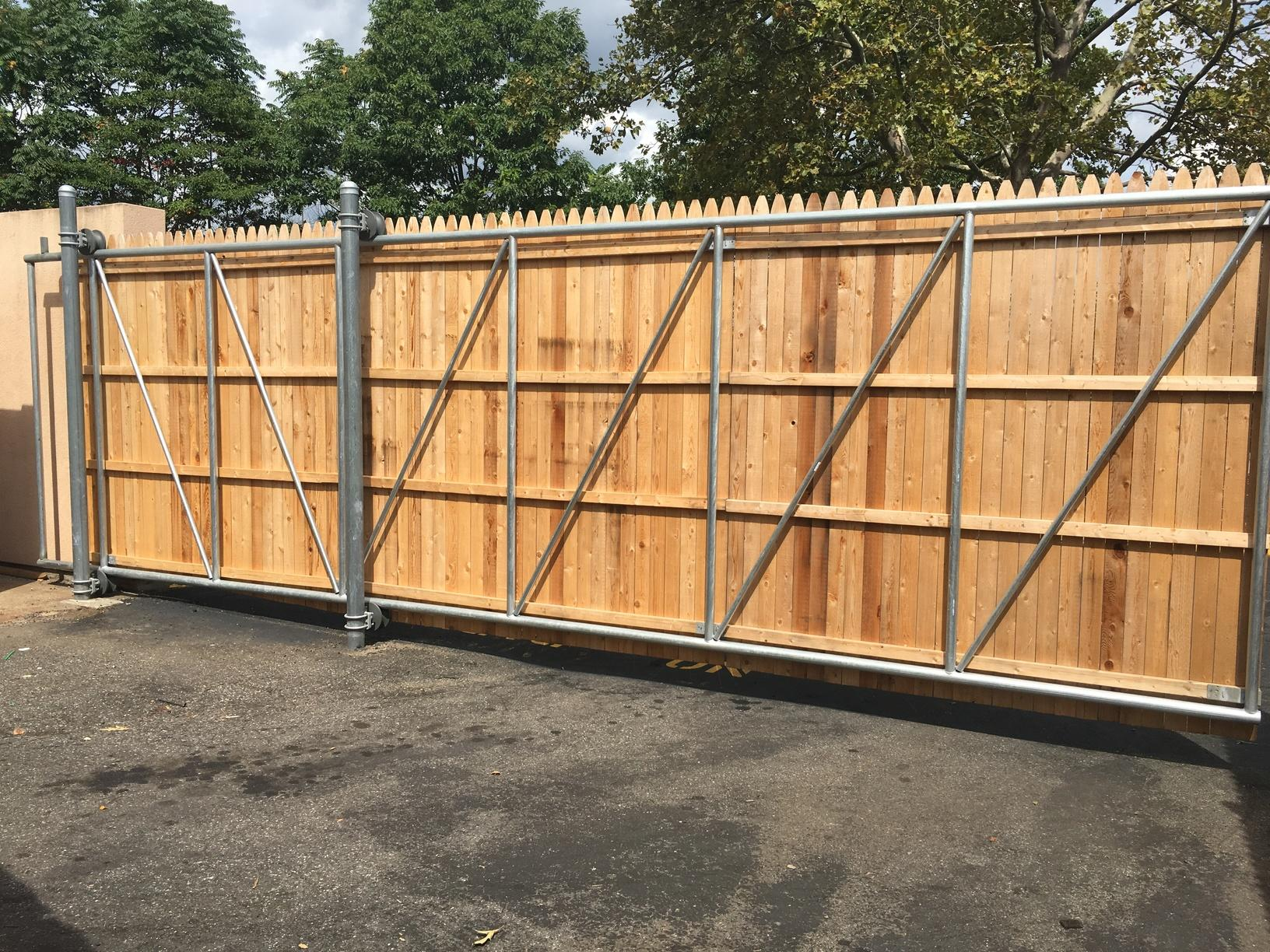 Cedar Slide Gate Install in Shelton, CT
